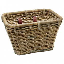 Basket Electra Rattan Rectangular Kubu Grey
