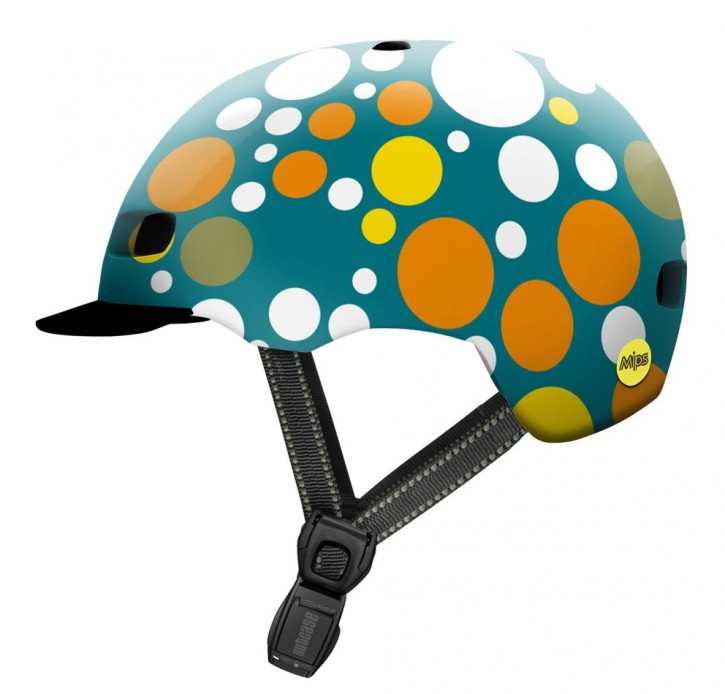 Nutcase Street MIPS Helm, Polka Face
