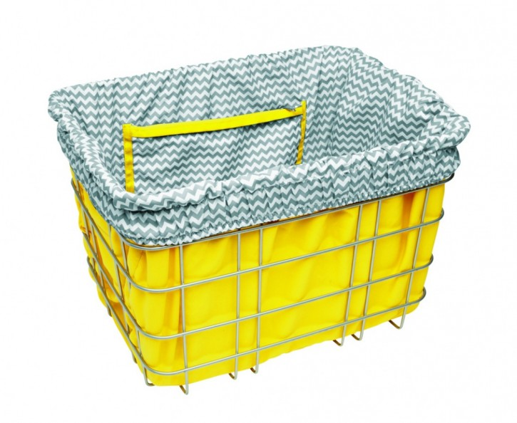 Electra Basket Liner ZIG ZAG yellow/grey/white