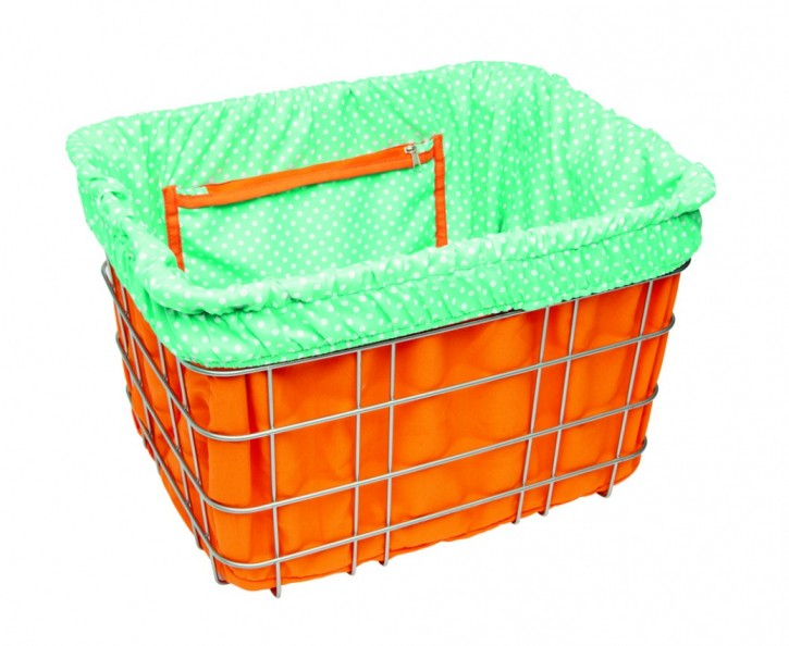 Electra Basket Liner DOTS orange/light blue