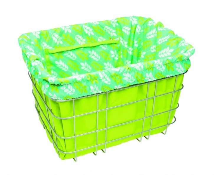 Electra Basket Liner LEAVES green