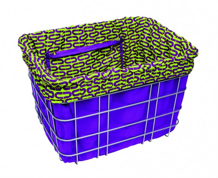 Electra Basket Liner OVALS purple/green
