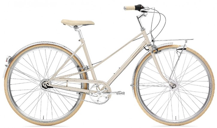 Creme Caferacer Ladies Doppio 7-Speed Dynamo gold champagne