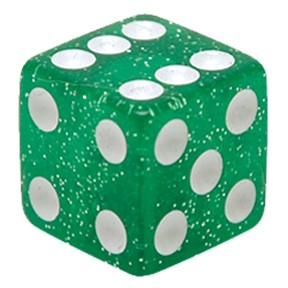 Valve Caps Dice green
