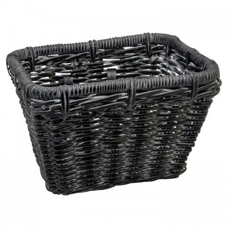 Electra Korb Woven Rectangular Basket black