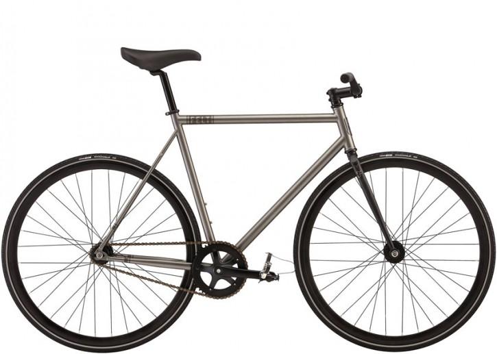 Felt Brougham matte metallic grey 51 cm