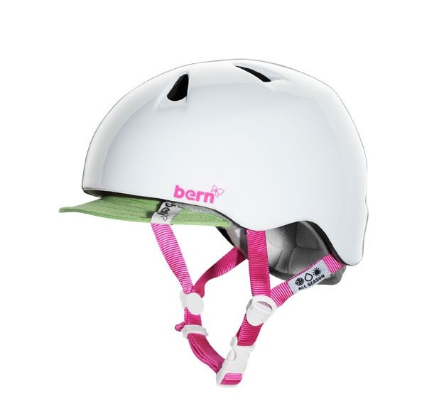 Bern Helm Nina glänzend weiß mit Flip Visor