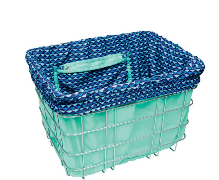 Electra Basket Liner MULTI TRIANGLES blue