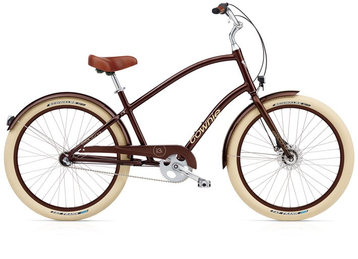 Electra Townie Balloon 3i EQ brown metallic men's