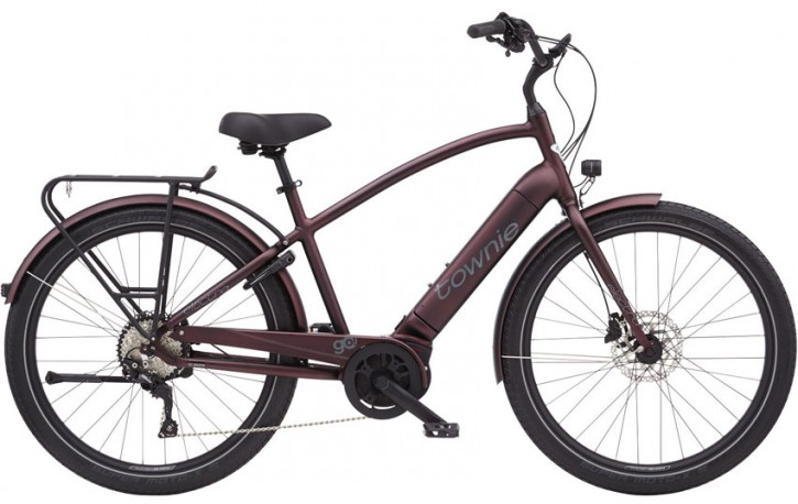Electra Townie Path Go! 10D Step Over, matte oxblood