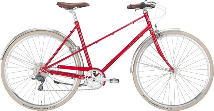 Excelsior Vintage D Damenrad 8-Gang ruby red