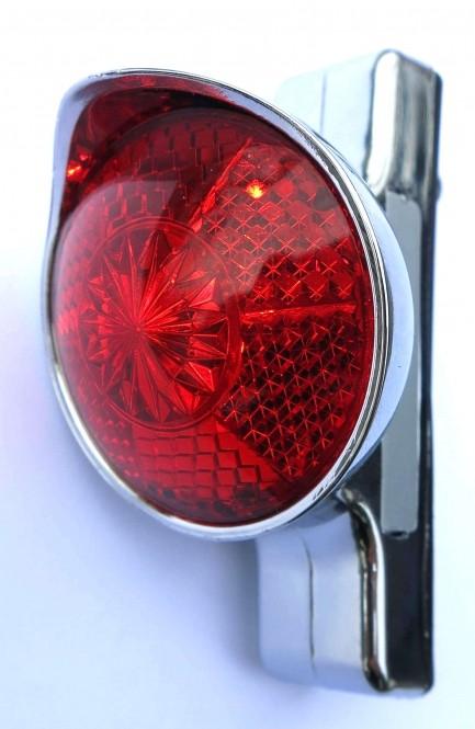 Rückleuchte Retro LED chrom
