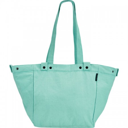Electra Waxed Canvas Basket Bag Aqua