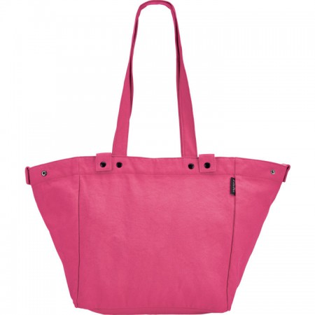 Electra Waxed Canvas Basket Bag Cerise