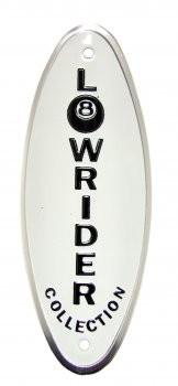 Lowrider Emblem, weiss