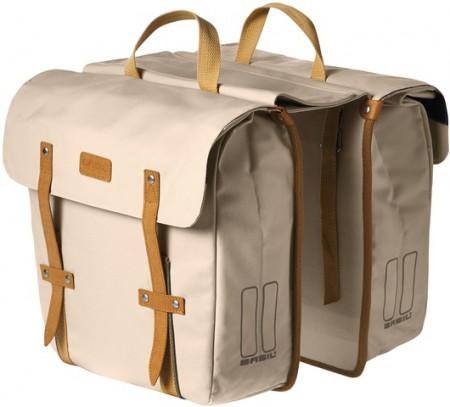Basil Portland Gepäckträgertaschen, ivory