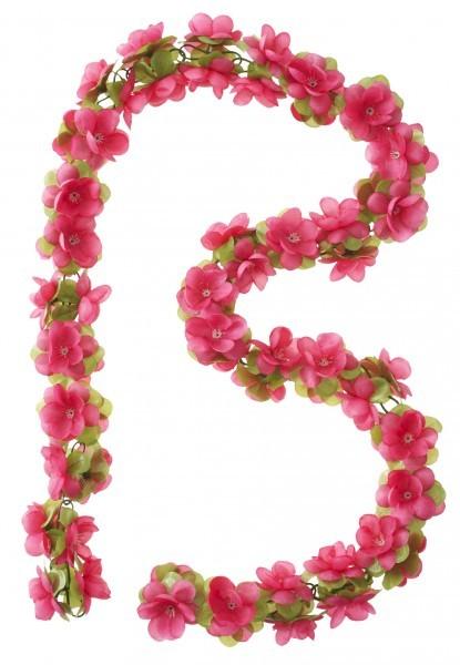 Blumengirlande, fuchsia