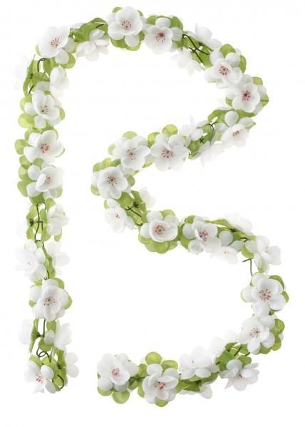 Blumengirlande, weiss