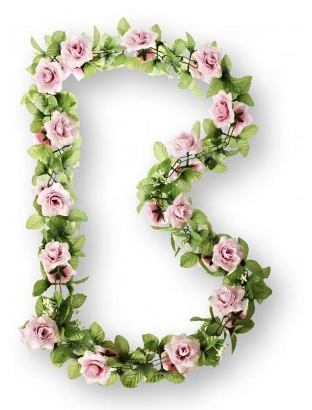 Blumengirlande Rosen, rosarot