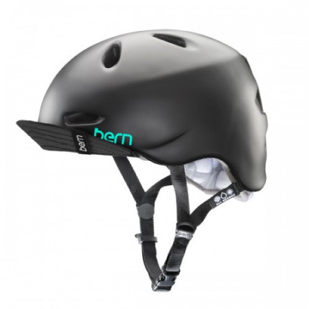 Bern Helm Berkeley satin black w/flip visor