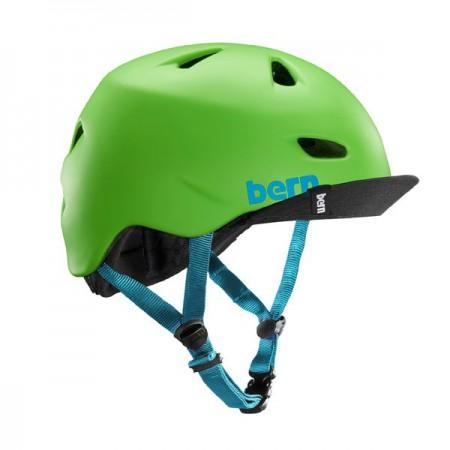 Bern Brentwood matte neongreen w/ flip visor