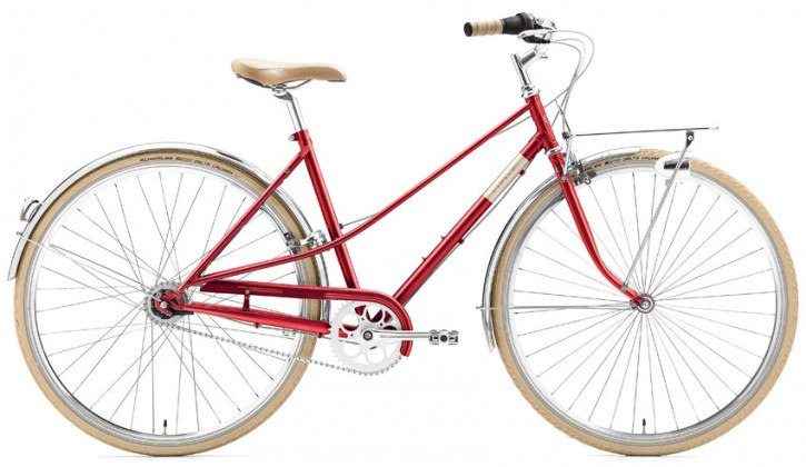 Creme Caferacer Ladies Solo 7 Speed red