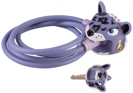 Kabelschloss Crazy Safety Purple Leopard