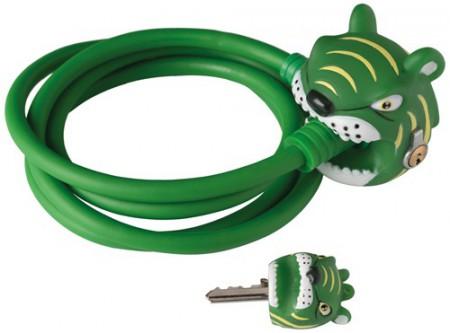 Kabelschloss Crazy Safety Green Tiger