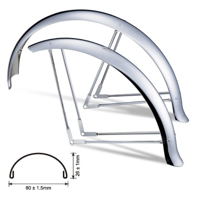 "Electra Cruiser Fender Set Womens 26"" white"