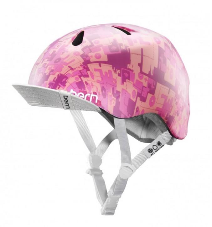 Bern Helm Nina pink camo mit Flip Visor