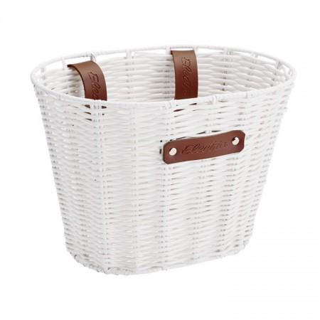 Electra Korb Plastic Basket woven, small white