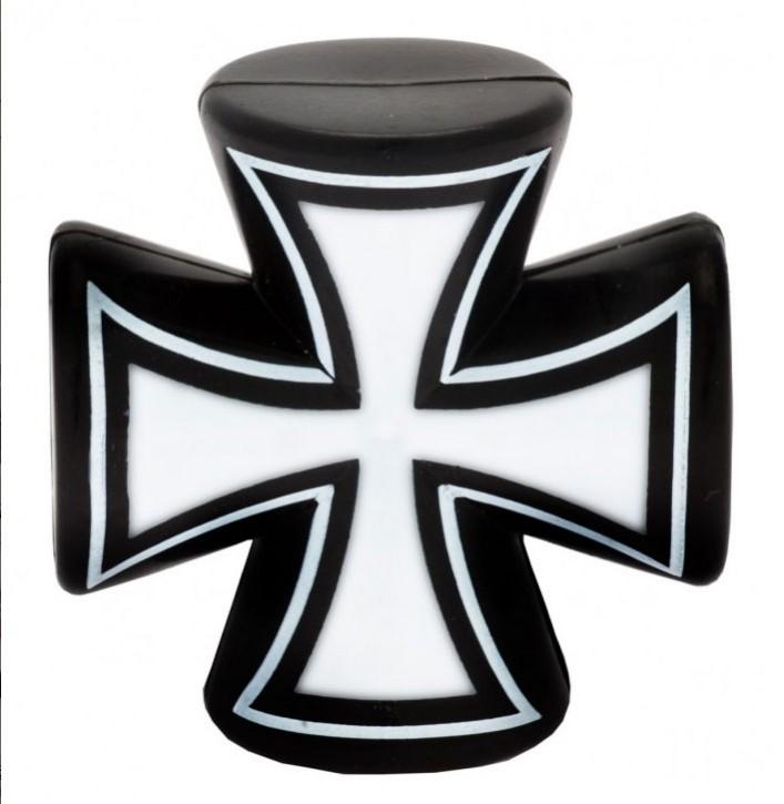 Valve Caps Iron Cross 3-D, black