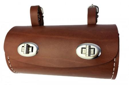 Werkzeugsatteltasche Zylinder, braun