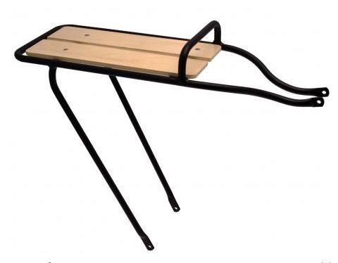 Electra Rear Rack Alloy/Wood, wide, ladies´ black