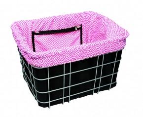 Electra Basket Liner MOSAIC black/pink