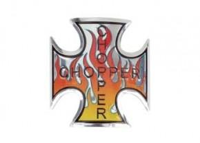 Eiserne Kreuz Emblem, rot/orange