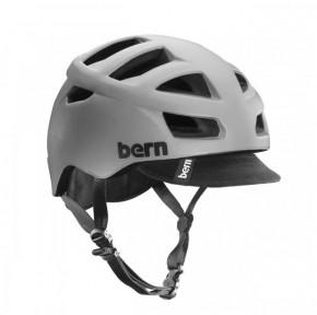Bern Allston matte grey w/ Visor