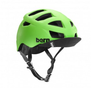 Bern Allston matte neon green w/ Visor