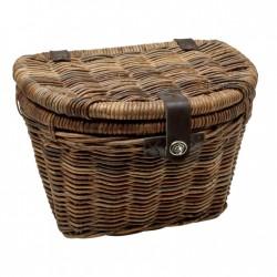 Electra Basket Rattan Woven w/Lid Brown