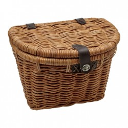Electra Basket Rattan Woven w/Lid Light Brown