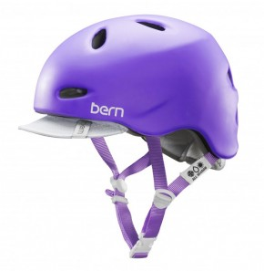 Bern Helm Berkeley satin purple mit Flip Visor