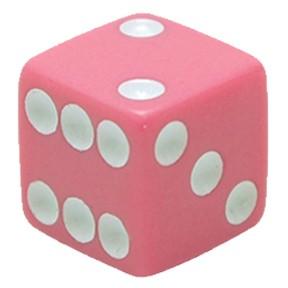 Valve Caps Dice pink