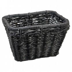 Basket Electra Rattan Rectangular Black Wash
