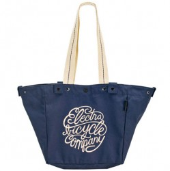 Electra Basket Bag Script Tote navy