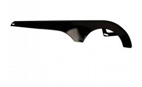 Felt Kettenschutz glanz-schwarz ohne Dekor universal
