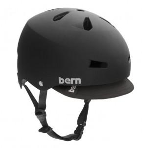 Bern Macon matt schwarz mit Visor -L-