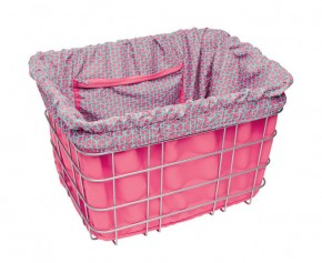 Electra Basket Liner TRIANGLES pink/light blue
