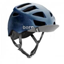 Bern Allston matte blue acid wash w/ Visor