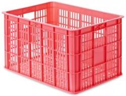 Basil Crate L Fahrradkisten pink