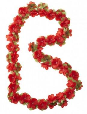 Blumengirlande, rot